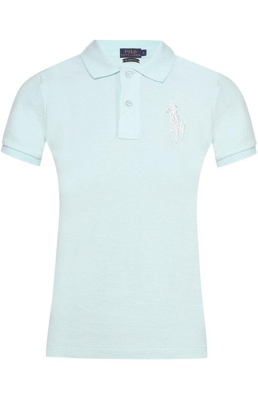 Купить Поло с вышитым логотипом бренда Polo Ralph Lauren, V38/I0BPP/C9416, Вьетнам, Светло-зеленый, Хлопок: 100%;