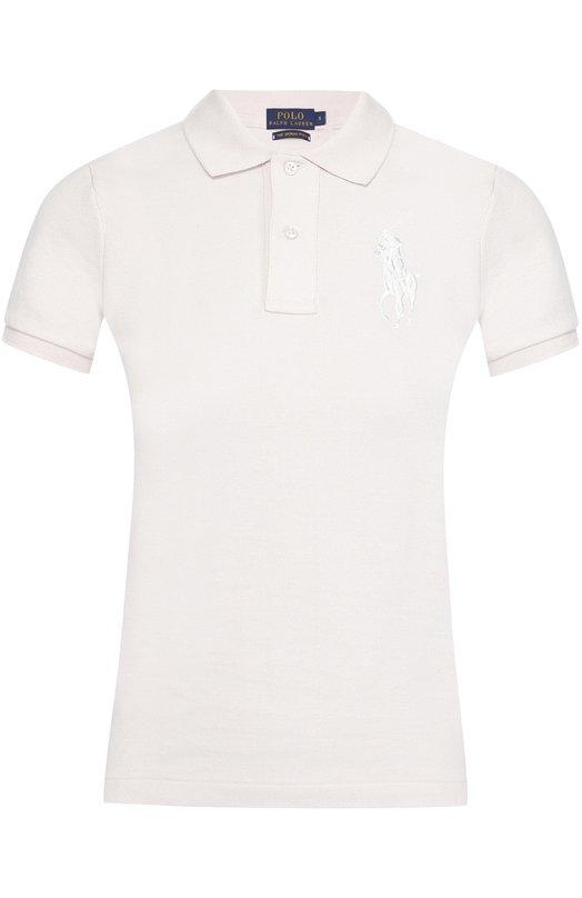 Купить Поло с вышитым логотипом бренда Polo Ralph Lauren, V38/I0BPP/C9416, Вьетнам, Белый, Хлопок: 100%;