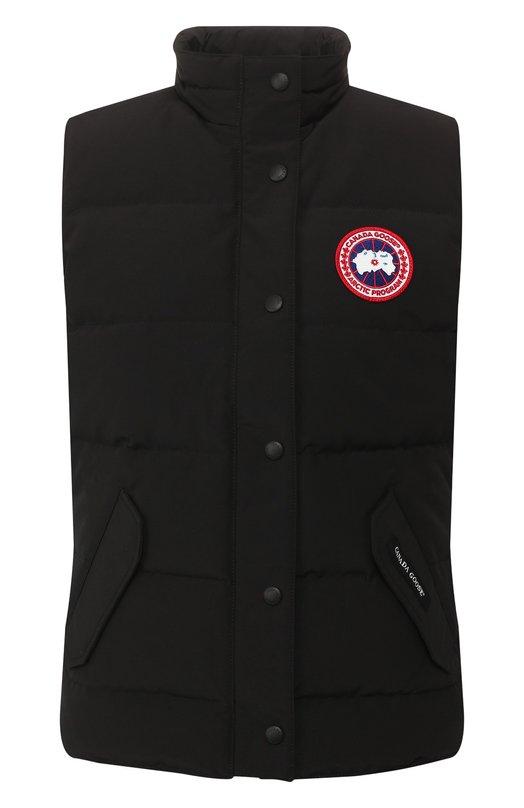 Пуховой жилет с карманами и логотипом бренда Canada Goose 2832L