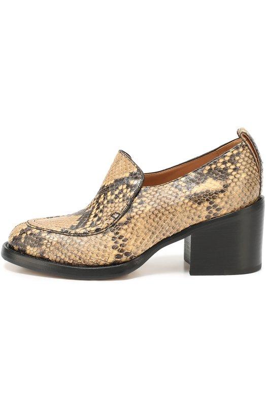 Кожаные ботинки с тиснением под рептилию Dries Van Noten WW20/454/QU209