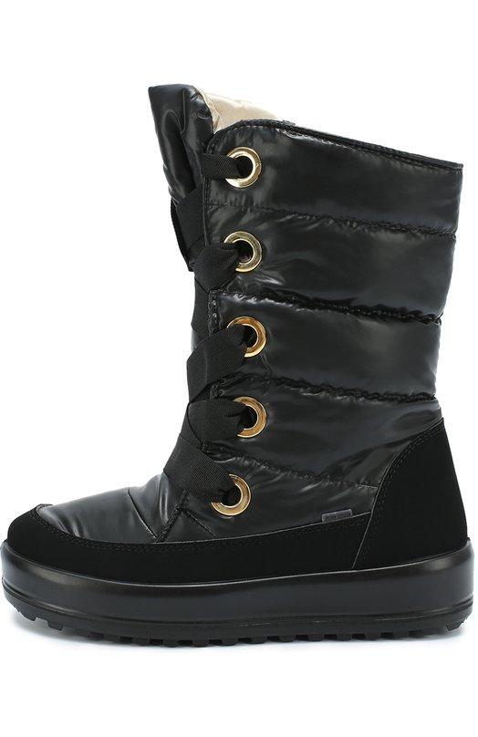 Текстильные сапоги на шнуровке Jog Dog 30305R-R/BLACK