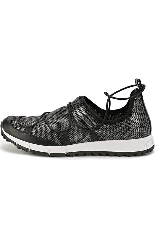 Комбинированные кроссовки Andrea на шнуровке Jimmy Choo ANDREA/IMF