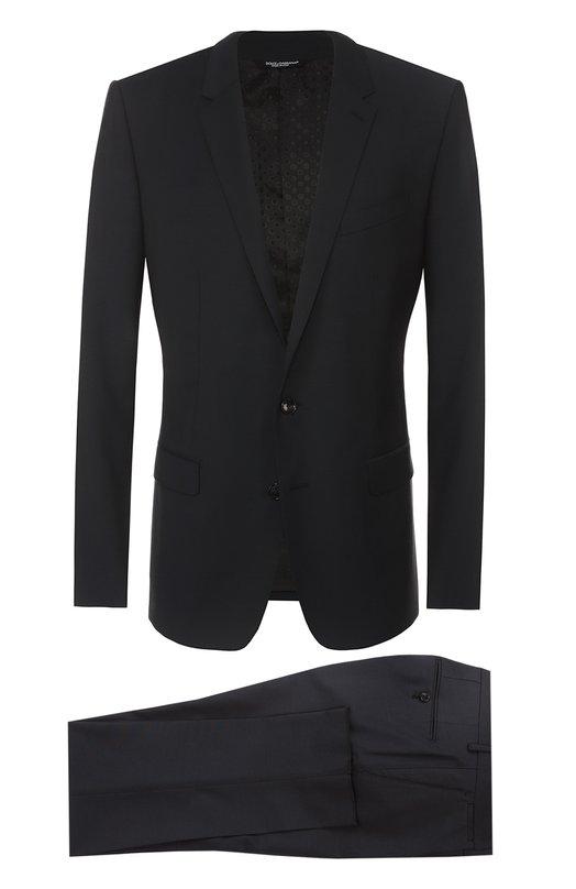 Шерстяной приталенный костюм Dolce & Gabbana 0101/G13DMT/FUBBG