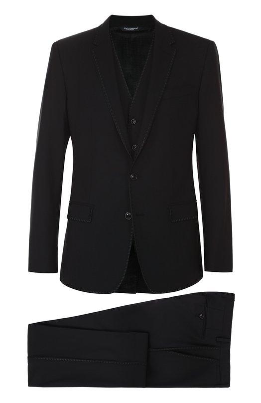 Шерстяной костюм-тройка Dolce & Gabbana 0101/G16GMZ/FUBBG