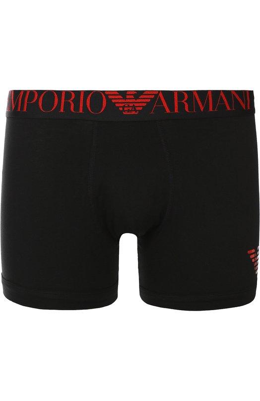 Удлиненные хлопковые боксеры с широкой резинкой Emporio Armani 110818/6A595