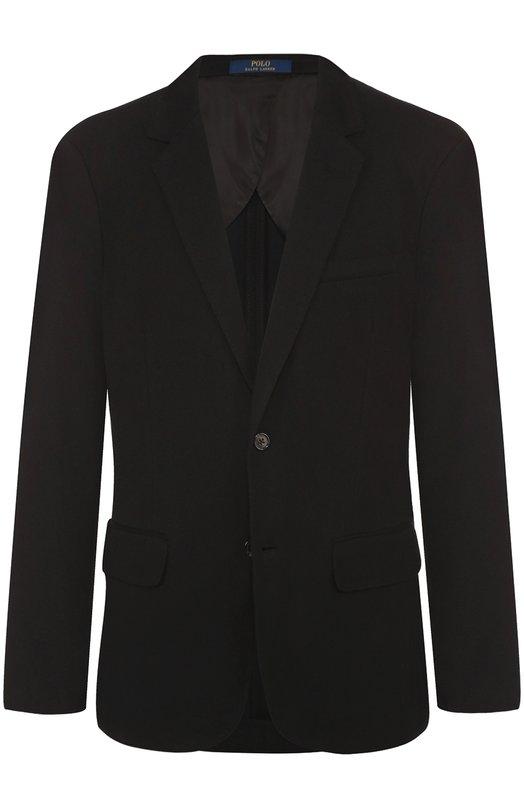 Хлопковый однобортный пиджак Polo Ralph Lauren A18/XZ17T/XY17T