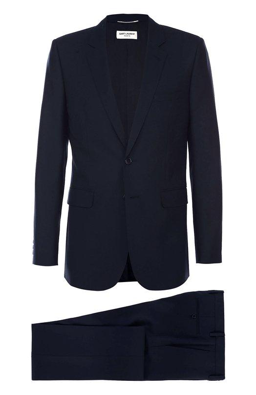 Шерстяной приталенный костюм Saint Laurent 398834/Y640W
