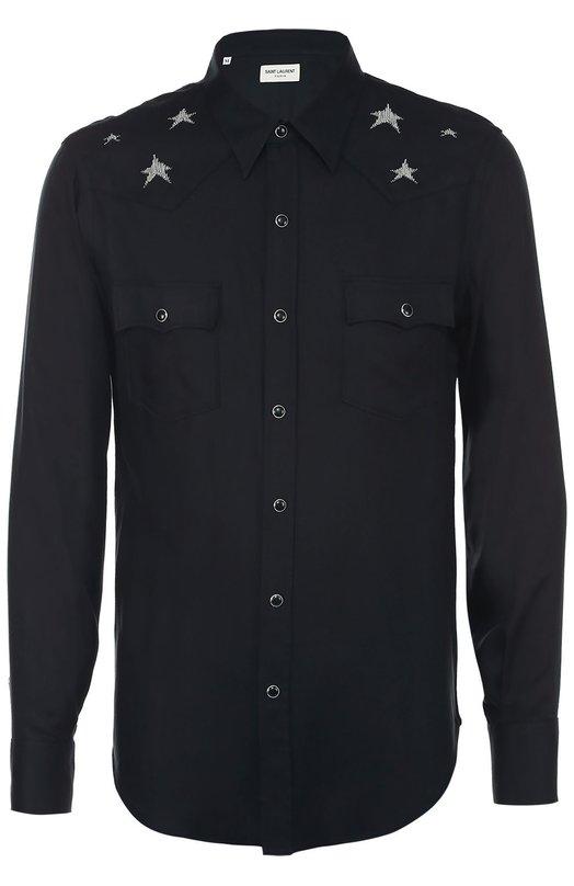 Рубашка из вискозы на кнопках Saint Laurent 433600/Y978L