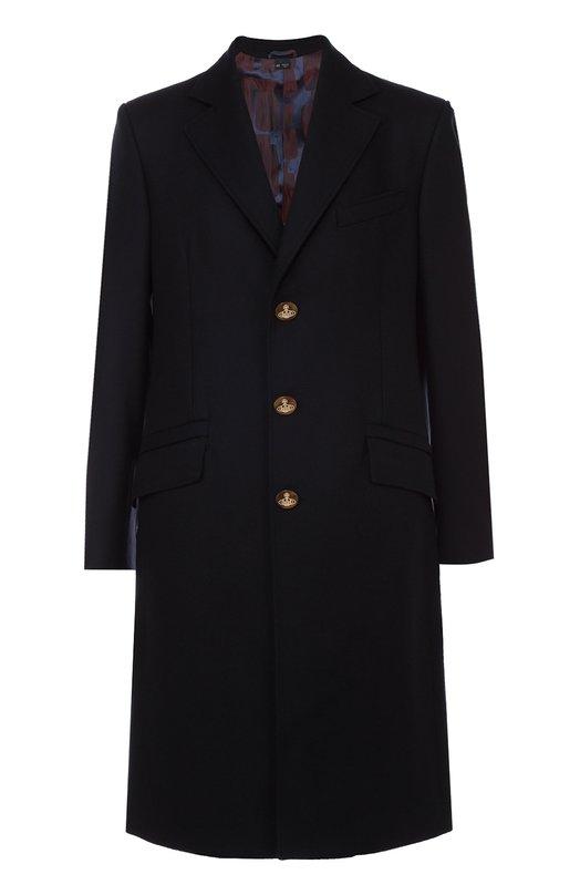 Однобортное пальто из смеси шерсти и кашемира Vivienne Westwood S25AA0052/S45334/S42008