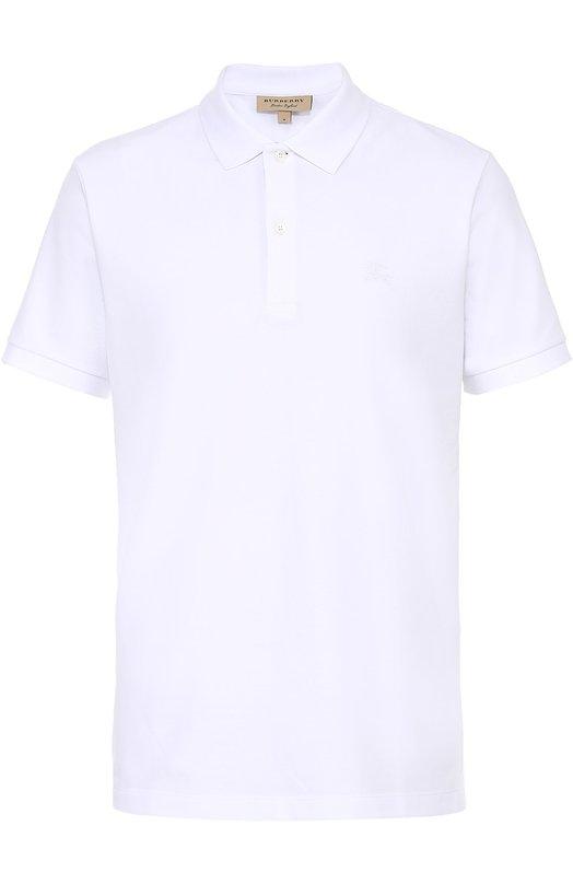 Купить Хлопковое поло с короткими рукавами Burberry, 3955994, Таиланд, Белый, Хлопок: 100%;