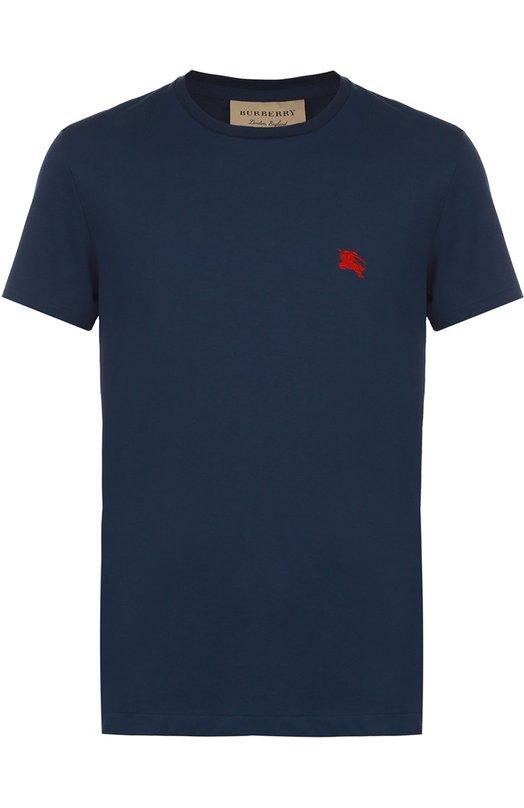 Хлопковая футболка с круглым вырезом Burberry 3872329