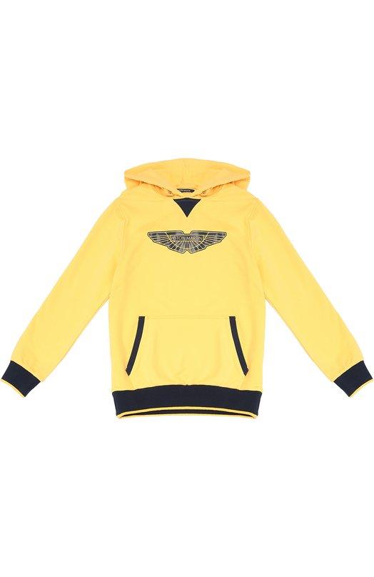 Толстовка с капюшоном Aston MartinСвитеры<br><br><br>Размер Years: 8<br>Пол: Мужской<br>Возраст: Детский<br>Размер производителя vendor: 128-134cm<br>Материал: Хлопок: 98%; Эластан: 2%;<br>Цвет: Желтый