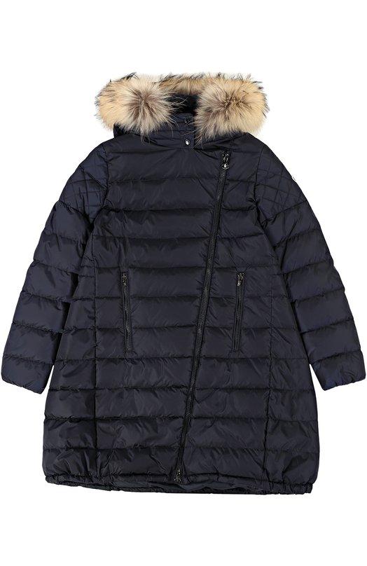 Пуховое пальто с капюшоном Moncler Enfant B2-954-49350-25-54155/12-14