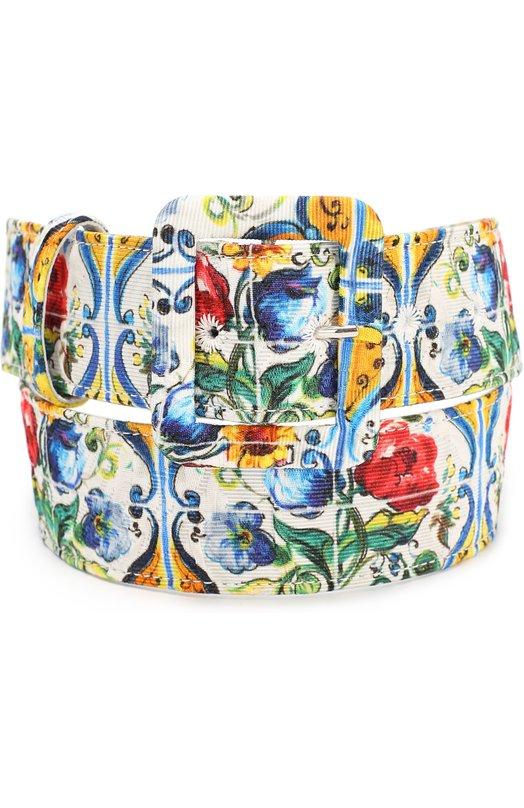 Ремень с принтом Dolce & Gabbana 0116/BE1220/AD565