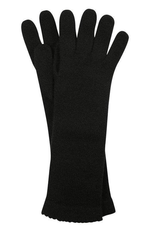 Купить Удлиненные перчатки из кашемира Inverni, 3078GU, Италия, Черный, Кашемир: 100%;