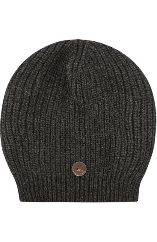 Вязаная шапка из кашемира InverniГоловные уборы<br><br><br>Пол: Женский<br>Возраст: Взрослый<br>Размер производителя vendor: NS<br>Материал: Кашемир: 100%;<br>Цвет: Темно-серый