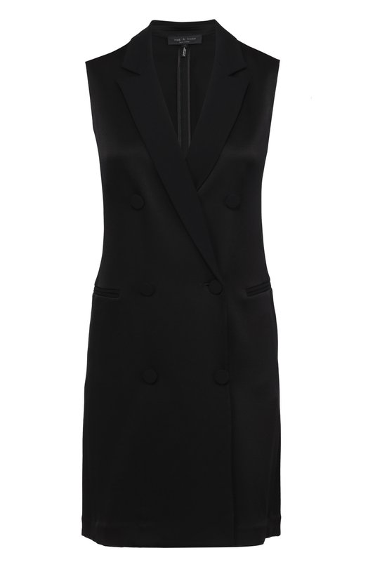Мини-платье с запахом и широкими лацканами Rag&Bone W2663227A