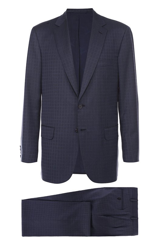 Шерстяной костюм в клетку Brioni RA30/05A6D/C0L0SSE0