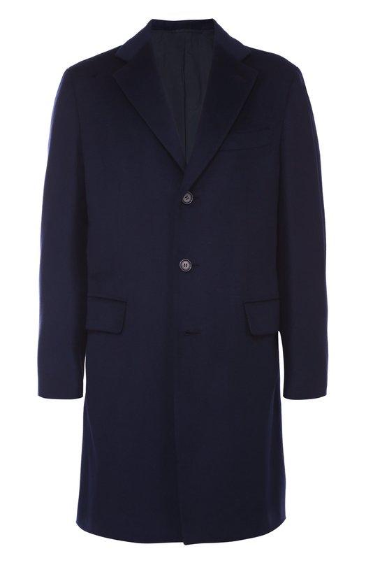 Купить Пальто из смеси шерсти и кашемира с пуховым утеплителем Brioni, R008/05AKT/NEBULA, Италия, Темно-синий, Шерсть: 90%; Пух: 85%; Перо: 15%; Подкладка-купра: 100%; Кашемир: 10%;