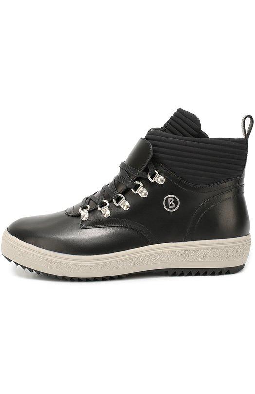 Кожаные ботинки с текстильной отделкой на шнуровке Bogner 163-A131/ANCH0RAGE M 1B