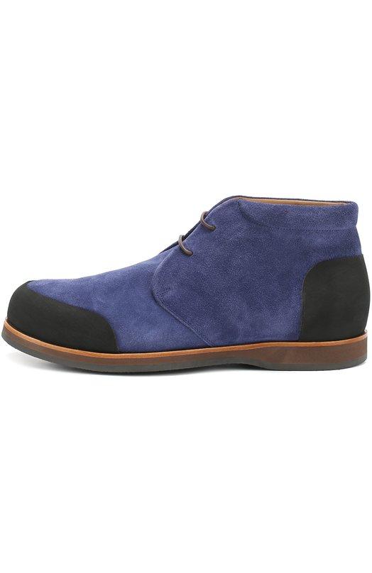 Замшевые ботинки с внутренней меховой отделкой Zonkey BootБотинки<br><br><br>Российский размер RU: 41<br>Пол: Мужской<br>Возраст: Взрослый<br>Размер производителя vendor: 7-5<br>Материал: Стелька-кожа: 100%; Подошва-резина: 100%; Замша натуральная: 100%;<br>Цвет: Синий