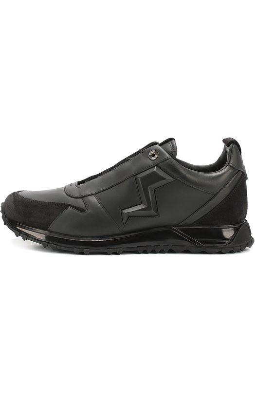 Кожаные кроссовки с замшевой отделкой Fendi 7E1002/8GD