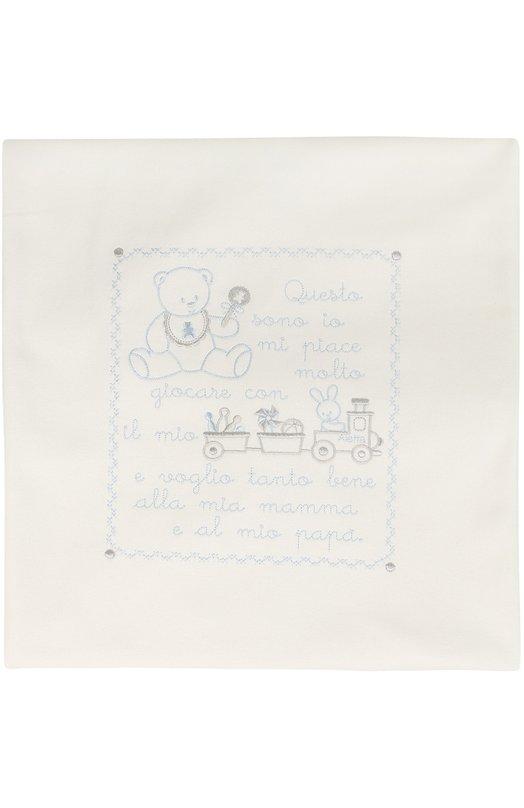 Одеяло из хлопка с вышивкой AlettaАксессуары<br><br><br>Пол: Женский<br>Возраст: Для малышей<br>Размер производителя vendor: NS<br>Материал: Хлопок: 100%;<br>Цвет: Белый