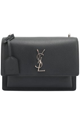 Сумка Sunset Monogram medium Saint Laurent синяя | Фото №1