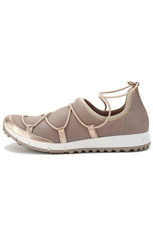 Комбинированные кроссовки Andrea на шнуровке Jimmy Choo ANDREA/FMM