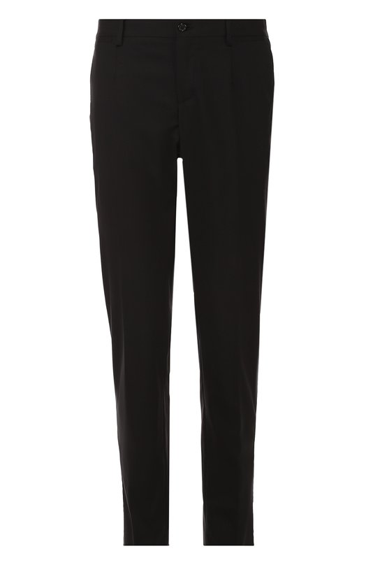 Купить Шерстяные брюки прямого кроя Dolce & Gabbana, 0101/G60XMT/FUBBG, Италия, Черный, Шерсть: 97%; Эластан: 3%;