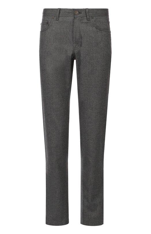Хлопковые джинсы прямого кроя Brioni SPL2/05080/STELVI0