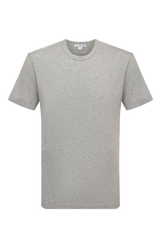 Хлопковая футболка с круглым вырезом James PerseФутболки<br><br><br>Российский размер RU: 52<br>Пол: Мужской<br>Возраст: Взрослый<br>Размер производителя vendor: 5<br>Материал: Хлопок: 100%;<br>Цвет: Серый