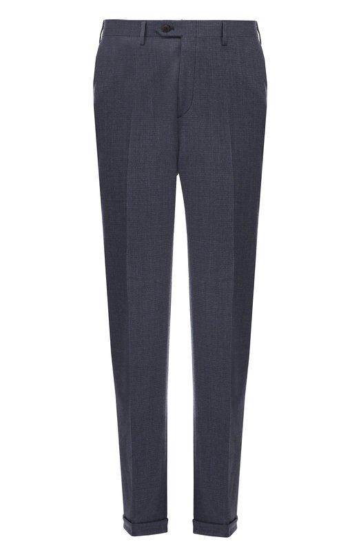 Классические шерстяные брюки BrioniБрюки<br><br><br>Российский размер RU: 52<br>Пол: Мужской<br>Возраст: Взрослый<br>Размер производителя vendor: 52-R<br>Материал: Шерсть: 100%;<br>Цвет: Синий