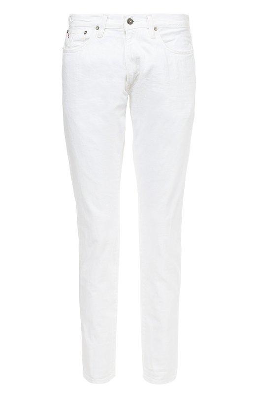 Хлопковые зауженные джинсы Polo Ralph LaurenДжинсы<br><br><br>Российский размер RU: 54<br>Пол: Мужской<br>Возраст: Взрослый<br>Размер производителя vendor: 38-34<br>Материал: Хлопок: 100%;<br>Цвет: Белый