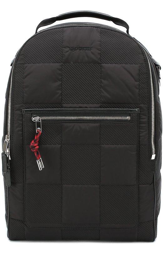 Текстильный рюкзак с отделкой из натуральной кожи Dior 1DEBA034XFP