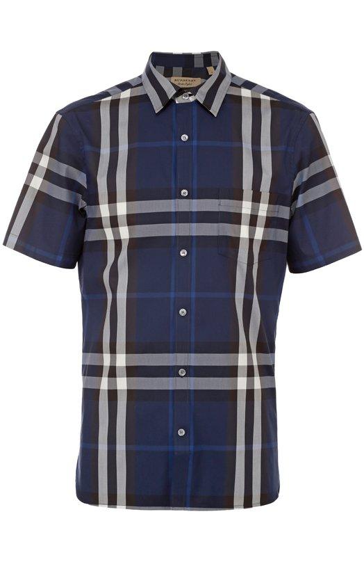 Рубашка из эластичного хлопка с короткими рукавами Burberry 4003936