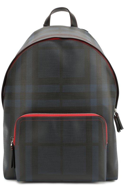Рюкзак в клетку London Check с отделкой из натуральной кожи Burberry 4040021