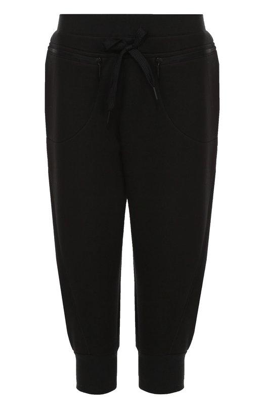 Укороченные спортивные брюки с эластичным поясом Adidas by Stella McCartneyСпорт<br><br><br>Российский размер RU: 40<br>Пол: Женский<br>Возраст: Взрослый<br>Размер производителя vendor: XS<br>Материал: Вискоза: 100%;<br>Цвет: Черный