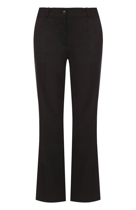 Укороченные расклешенные брюки со стрелками Roberto CavalliБрюки<br><br><br>Российский размер RU: 44<br>Пол: Женский<br>Возраст: Взрослый<br>Размер производителя vendor: 42<br>Материал: Шерсть: 98%; Эластан: 2%;<br>Цвет: Черный
