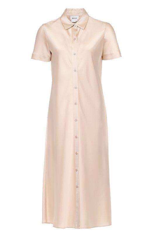 Платье-рубашка прямого кроя с коротким рукавом DKNY P4672463SA