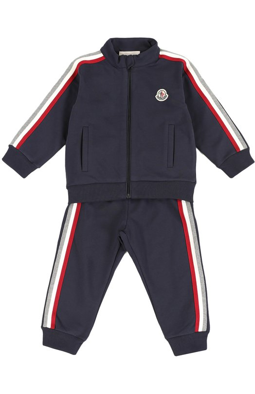 Спортивный костюм Moncler EnfantОдежда<br><br><br>Размер Months: 36<br>Пол: Женский<br>Возраст: Для малышей<br>Размер производителя vendor: 98-104cm<br>Материал: Хлопок: 96%; Эластан: 4%;<br>Цвет: Темно-синий