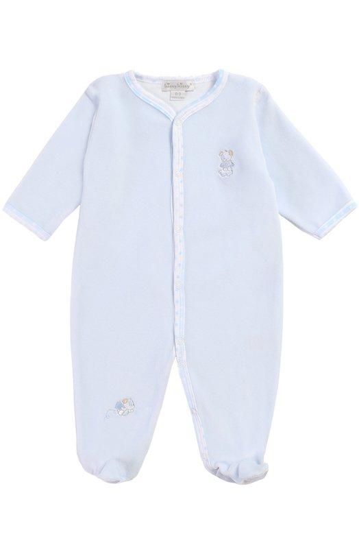 Пижама с нашивкой Kissy KissyОдежда<br><br><br>Размер Months: 6<br>Пол: Женский<br>Возраст: Для малышей<br>Размер производителя vendor: 68-74cm<br>Материал: Хлопок: 80%; Полиэстер: 20%;<br>Цвет: Голубой