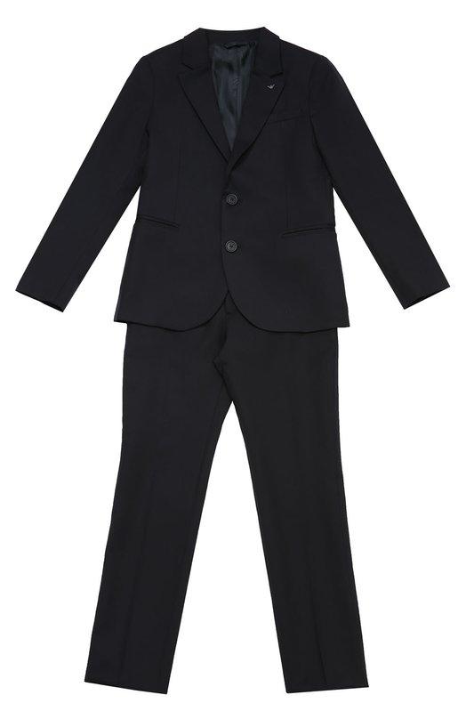 Шерстяной костюм с пиджаком на двух пуговицах Giorgio Armani 8N4V01/4N05Z/4A-10A