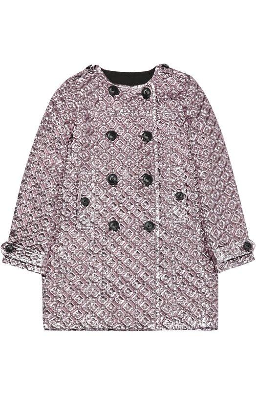 Двубортное пальто с фактурной отделкой Burberry 4029661