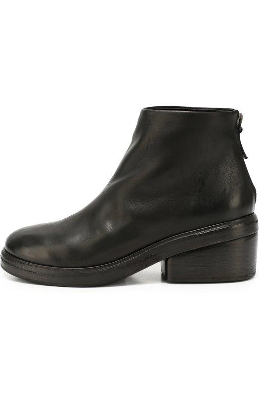 Кожаные ботинки на массивном каблуке Marsell MW3853/CALF