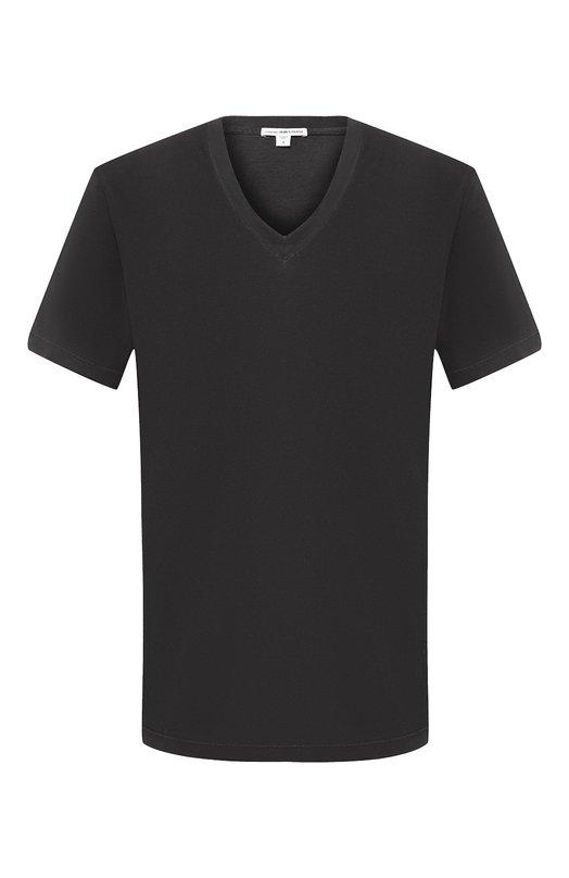 Хлопковая футболка с V-образным вырезом James PerseФутболки<br><br><br>Российский размер RU: 42<br>Пол: Мужской<br>Возраст: Взрослый<br>Размер производителя vendor: 0<br>Материал: Хлопок: 100%;<br>Цвет: Темно-серый