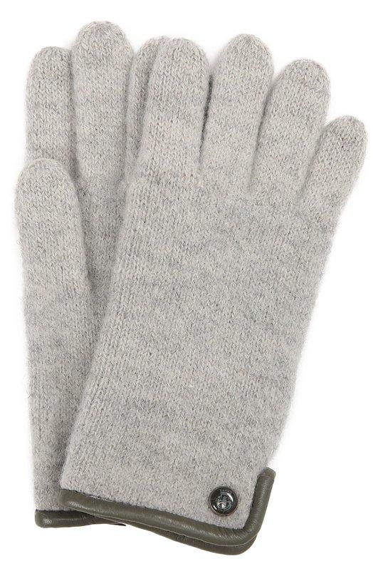 Вязаные перчатки с пуговицей RoecklПерчатки<br><br><br>Российский размер RU: 6<br>Пол: Женский<br>Возраст: Детский<br>Размер производителя vendor: 6<br>Материал: Шерсть: 100%;<br>Цвет: Серебряный