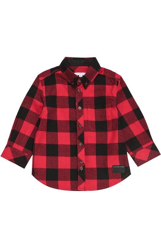 Хлопковая рубашка в клетку Marc Jacobs W25244/2A-4A