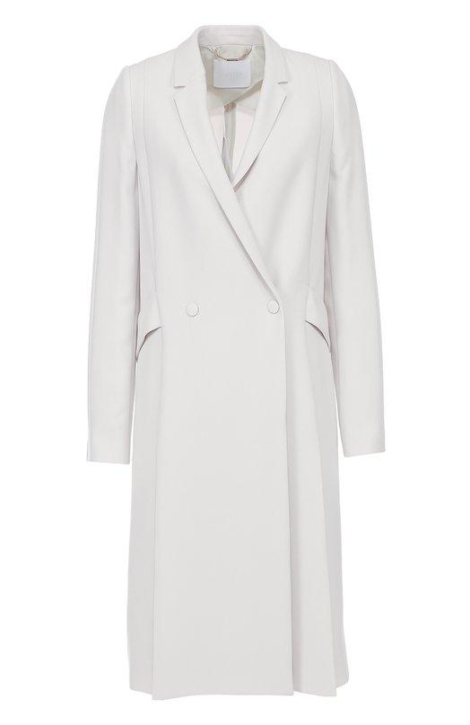 Двубортное пальто прямого кроя с карманами HUGOПальто и плащи<br><br><br>Российский размер RU: 48<br>Пол: Женский<br>Возраст: Взрослый<br>Размер производителя vendor: 40<br>Материал: Полиэстер: 51%; Ацетат: 49%;<br>Цвет: Светло-серый