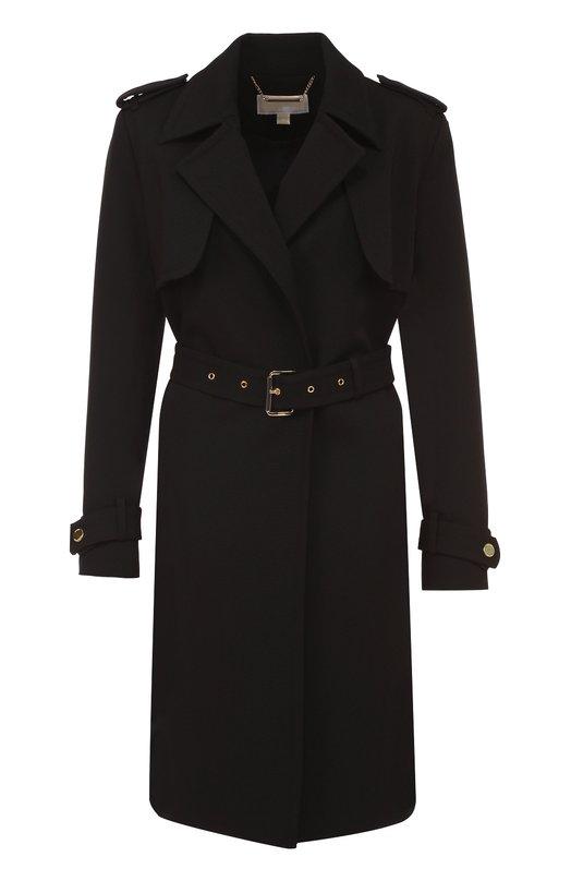 Пальто прямого кроя с погонами и поясом Michael Michael Kors MU62HH23GZ